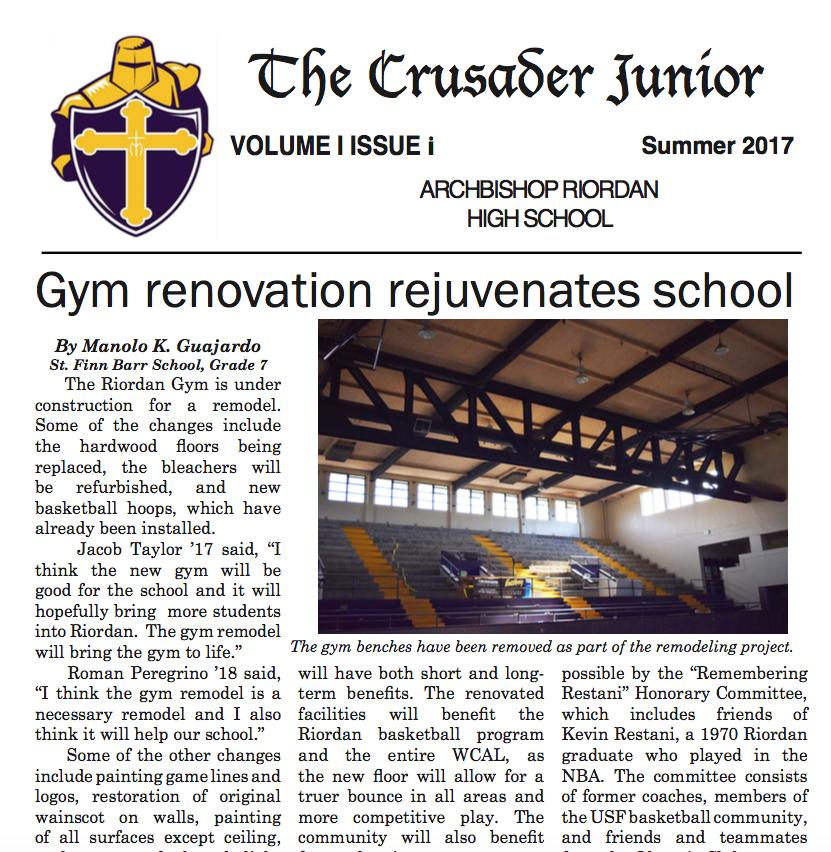 The Crusader Junior 2017