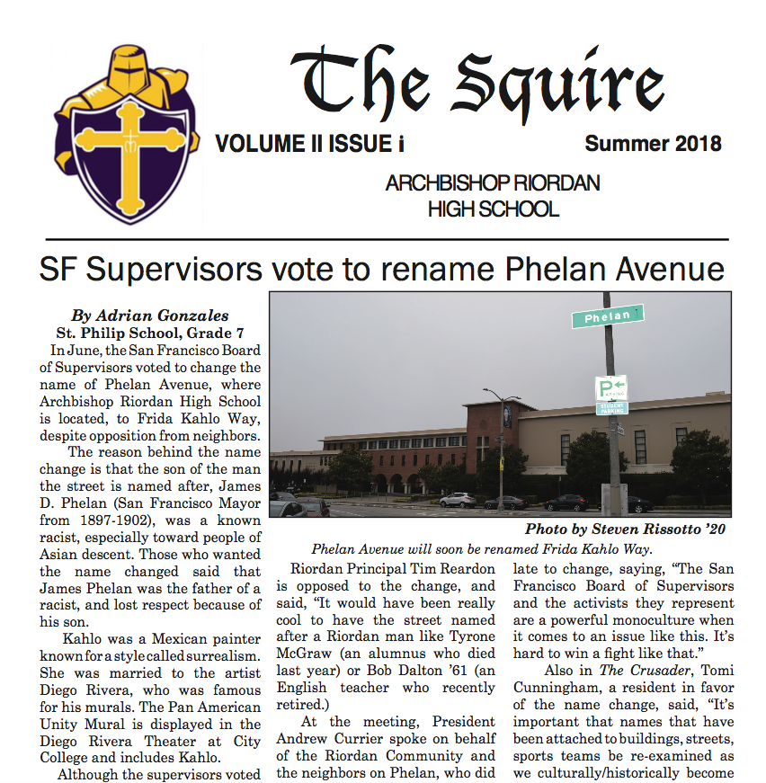 The Squire Summer 2018
