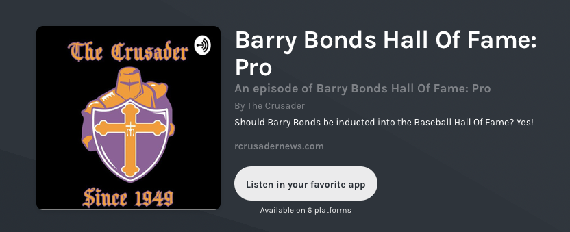 Podcast: Should Barry Bonds be in the HOF? Yes!