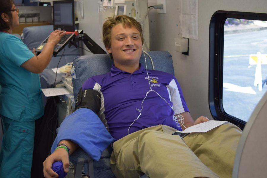 Zachary Phillips '20 sacrificed part of his day to help people in need.