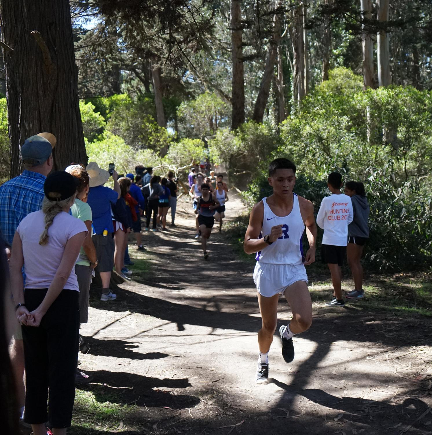 EJ Odocayen '20 at the Lowell Invitational at Golden Gate Park. goals together, as cross country is a team sport.