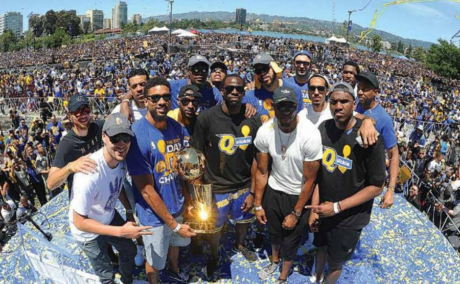 The+Golden+State+Warriors+celebrated+another+NBA+Championship+season+this+past+summer+with+a+parade+in+Downtown+Oakland.