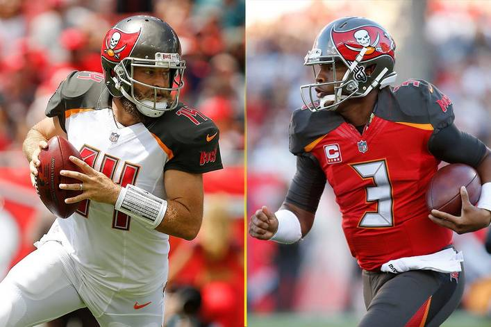 The+Tampa+Bay+Buccaneers+have+dueling+quarterbacks+in+Ryan+Fitzpatrick+and+Jameis+Winston%2C+who+are+battling+for+the+job.