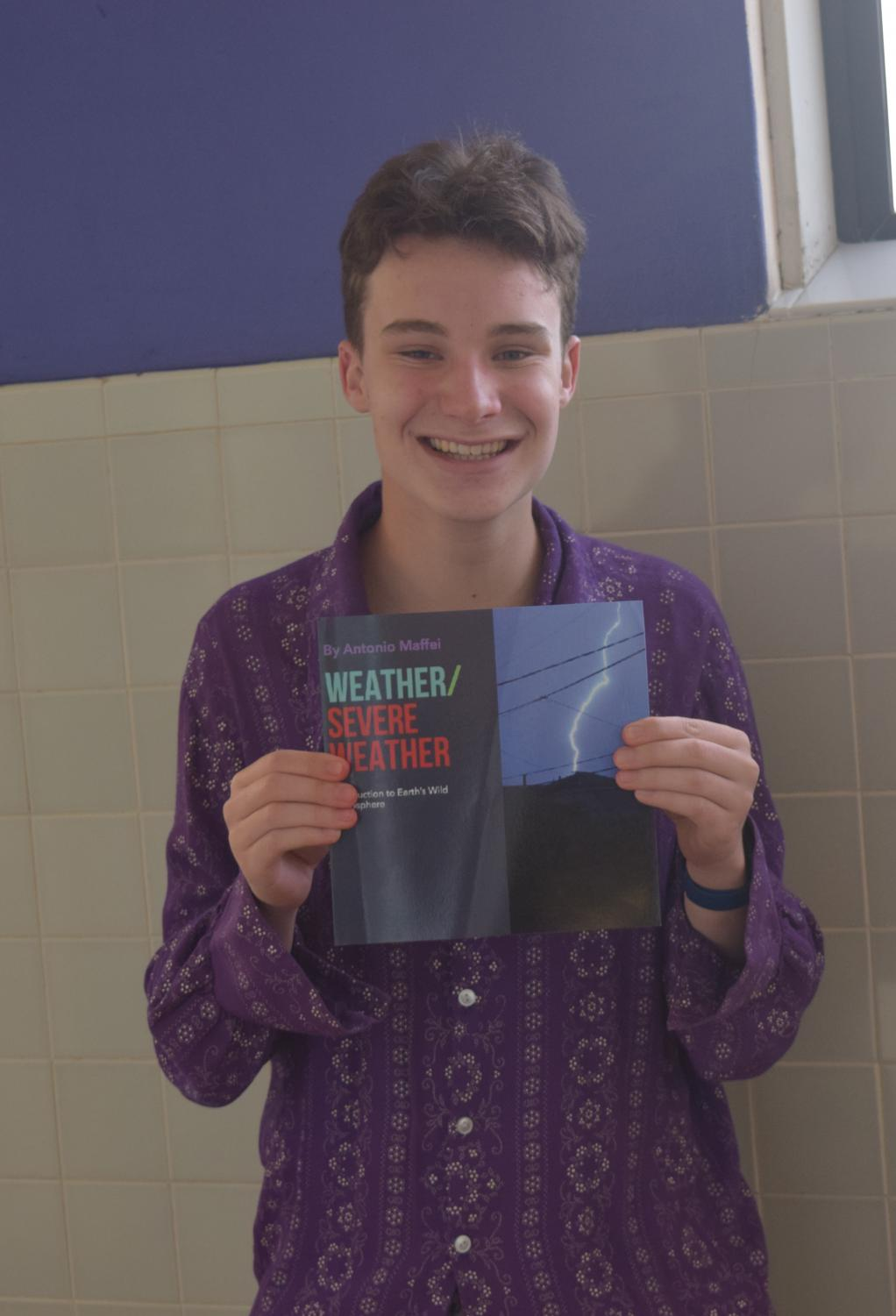 Antonio Maffei '20 has written two books about his life as a teen meteorologist, with another on the way.