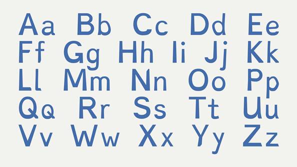 A new font helps dyslexics read easier.
