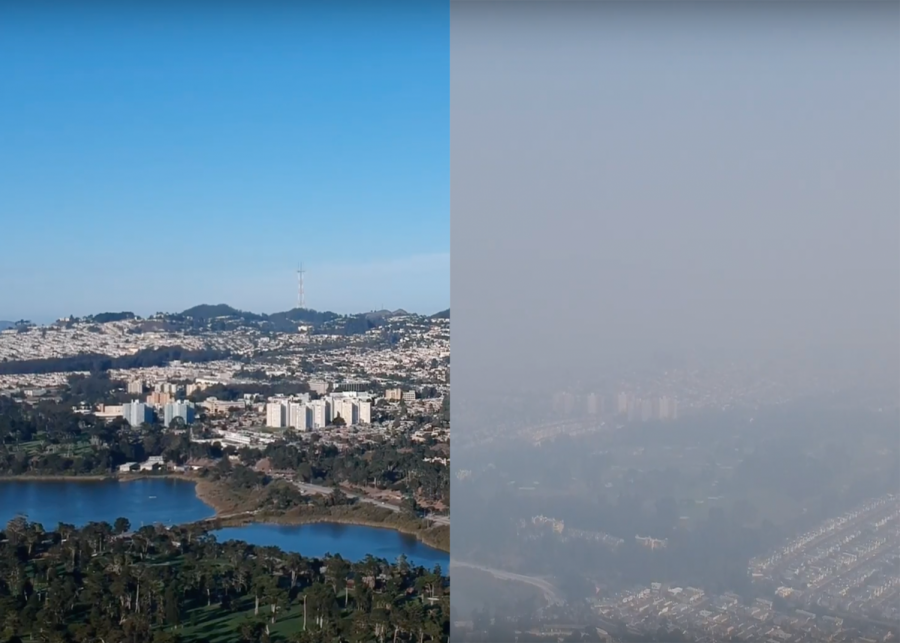 Smoke saturates San Francisco skies