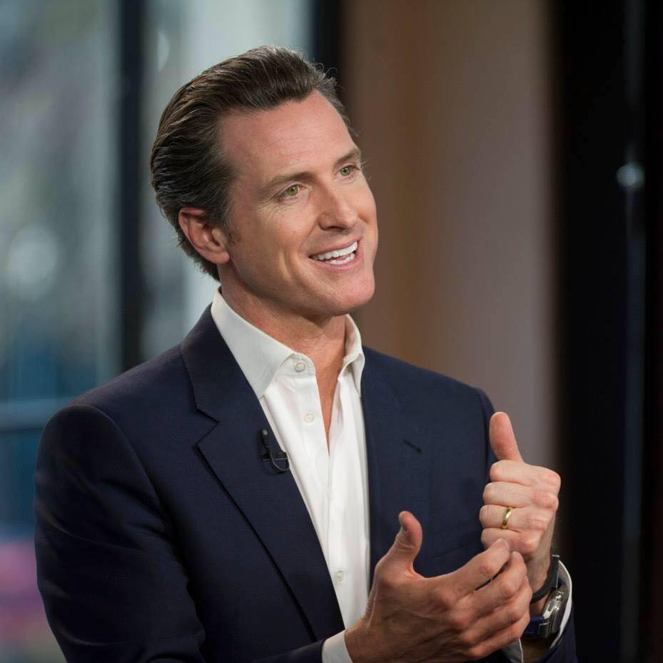 Lt. Governor Gavin Newsom was elected Governor of California.