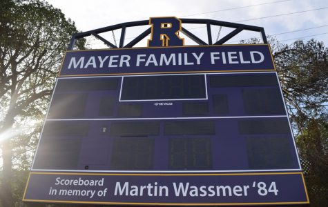The Mayer Family Field has a new scoreboard, named in honor of Martin Wassmer '84.