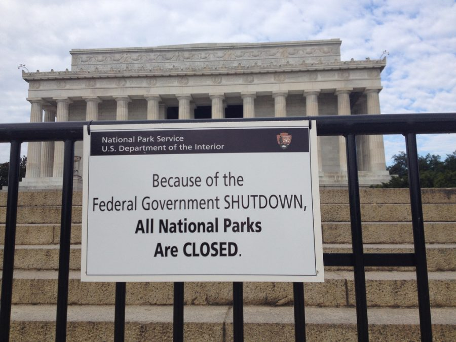 During the government shutdown, federal tourist attractions such as the Lincoln Memorial were closed to the public.