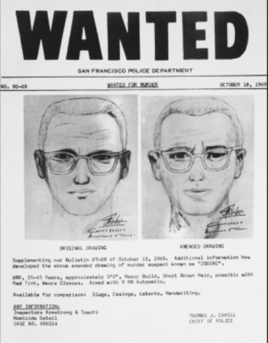The Zodiac Killer was never caught or even identified.