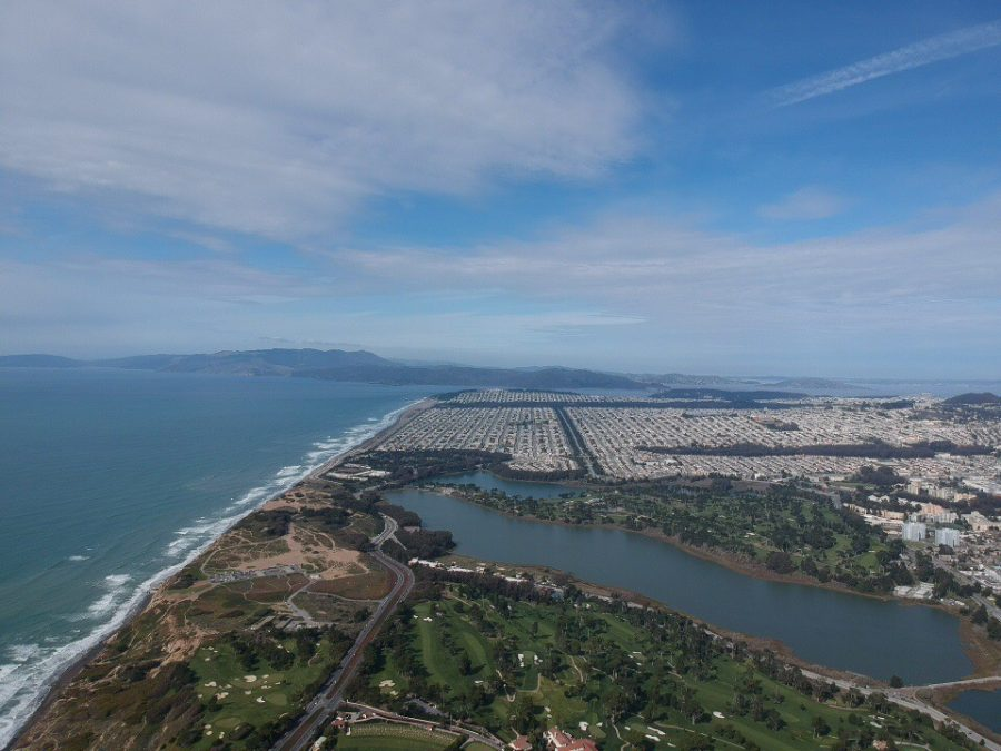 his+overhead+view+of+Lake+Merced+shows+that+the+lake+is+far+from+the+pristine+condition+the+early+explorers+found+it+in.