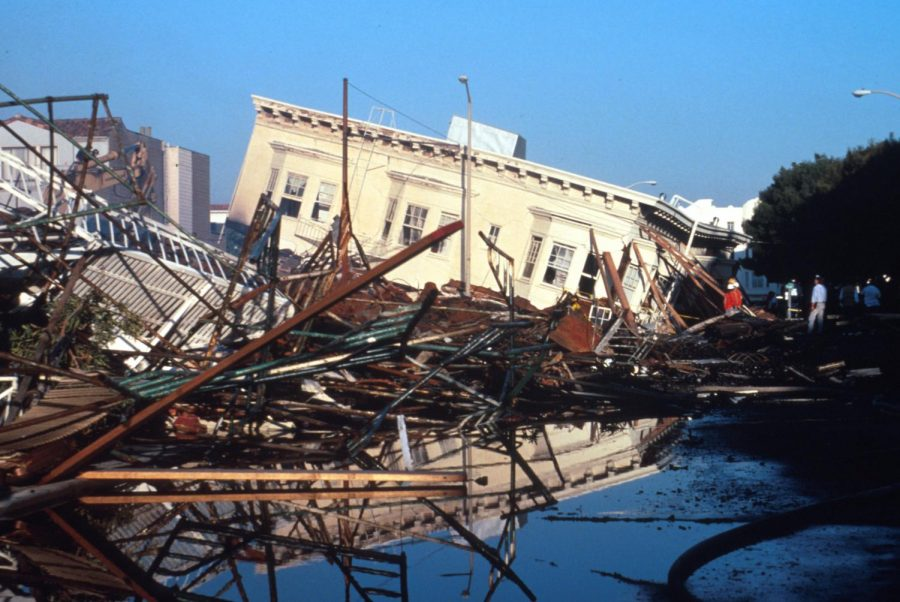 During the Loma Prieta earthquake in 1989, buildings on landfill, like these in the Marina District, collapsed when the 6.9 quake rolled through the City.