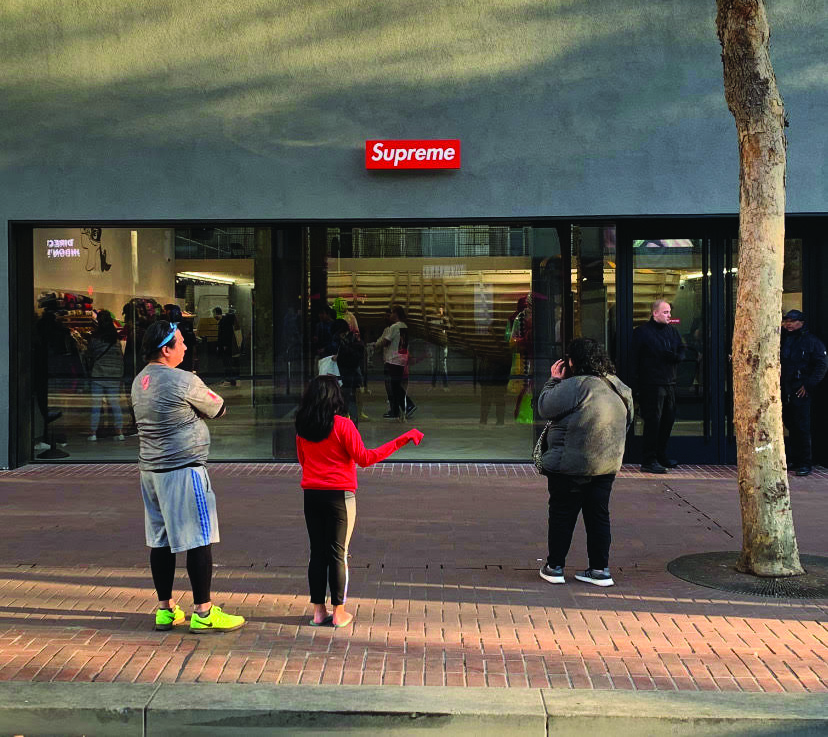 The new Supreme store on Market Street is already a hit, attracting crowds of shoppers every day.