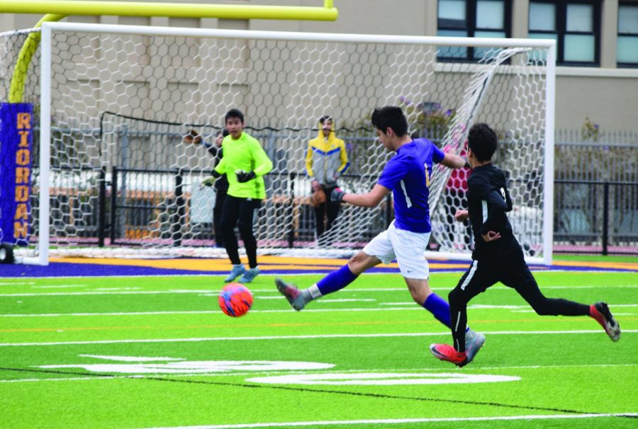 Riordan's soccer team has started this season strong on the home field.
