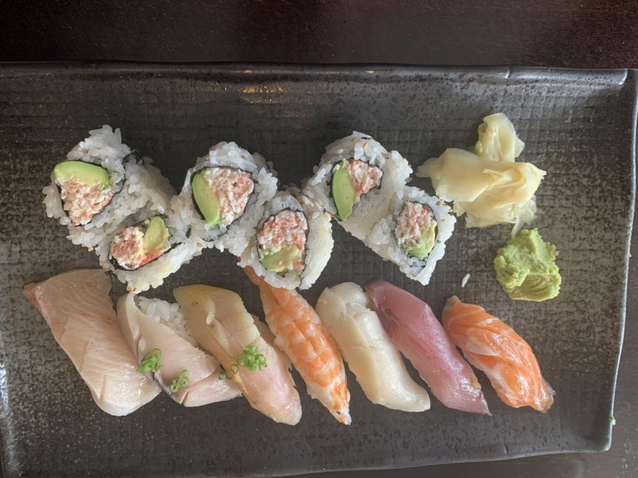 The most popular dish at Uoyakutei in Paci ca is the California Platter, which includes a California Roll and sashimi.