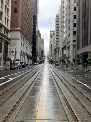 The usually bustling streets of downtown San Francisco have been quiet and empty during the shelter-in-place.