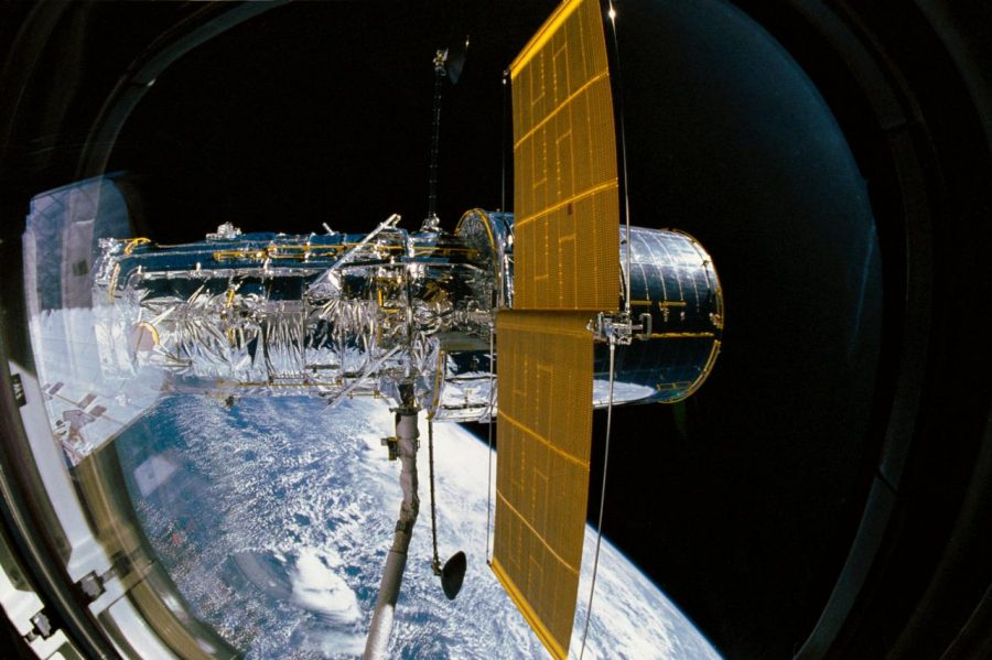 The Hubble Space Telescope after its deployment 30 years ago, on April 24, 1990.