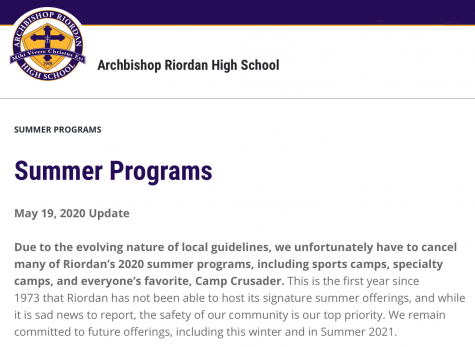 A message regarding the situation from Riordan's website.