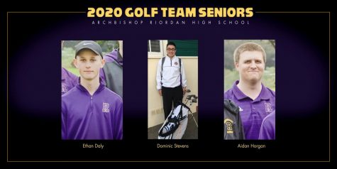 A trio of golfers from the Class of 2020 represented Riordan's golf team.