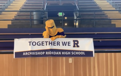 The Crusader mascot starred in an inspirational video during the SIP.