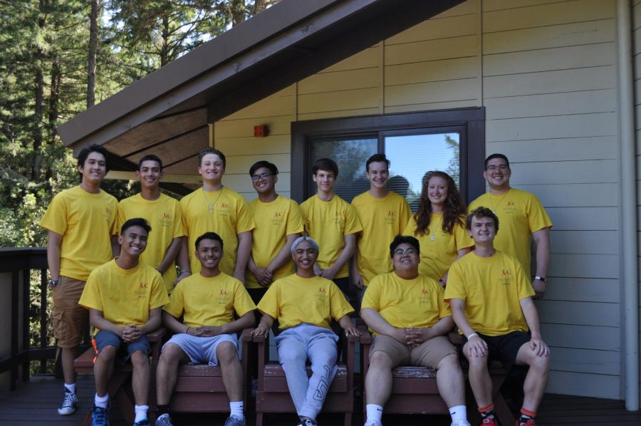 Members+of+the+2019-2020+LIFE+Team+represent+Campus+Ministry+at+a+retreat+in+Occidental+in+June+of+2019.+%0A