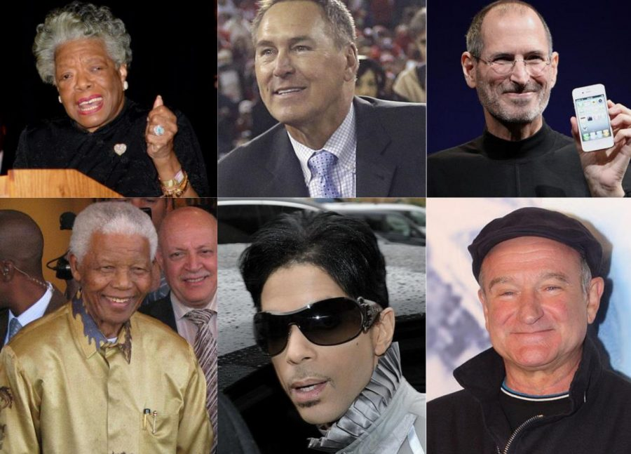 Maya+Angelou%2C+Dwight+Clark%2C+Steve+Jobs%2C+Nelson+Mandela%2C+Prince%2C+and+Robin+Williams+were+some+of+the+legends+we+lost+in+the+2010s.++