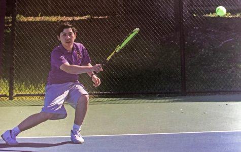 Cristopher Navarrete '20 was one of the seniors on the tennis team.