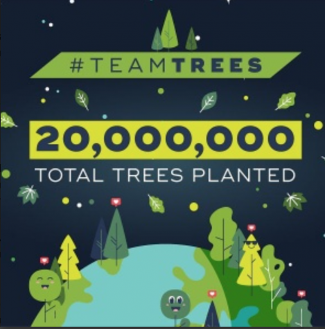 TeamTrees has pledged to plant 20 million trees worldwide by the end of the year.