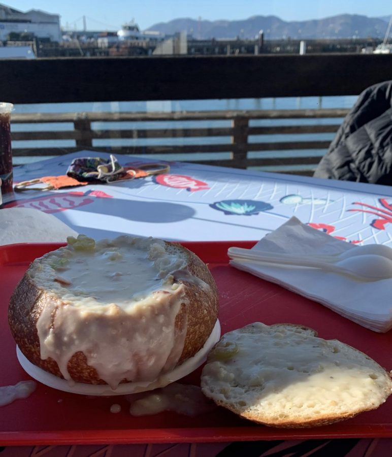 Clam chowder in a French bread bowl is a San Francisco tradition, whether you are a native or a tourist.