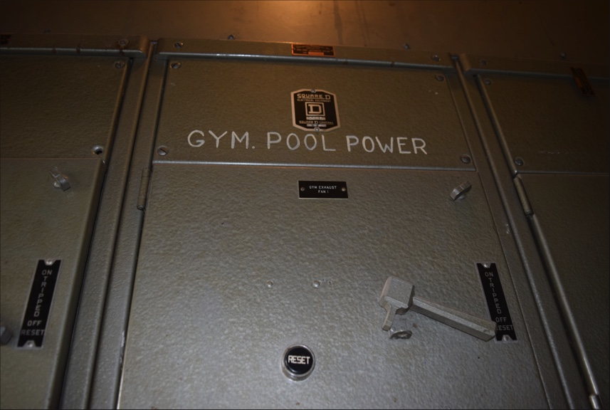 The power supply for the pool still exists, even though the pool does not.