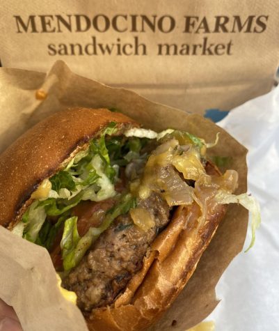 The Impossible Burger at Mendocino Farms leaves customers satisfied, but not sluggish.