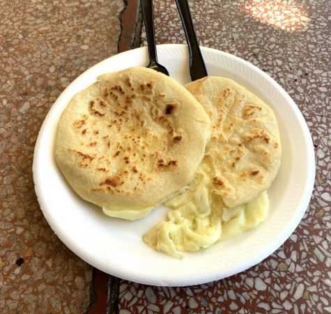 The cheese pupusas at Balompie Cafe are a favorite dish among its customers.