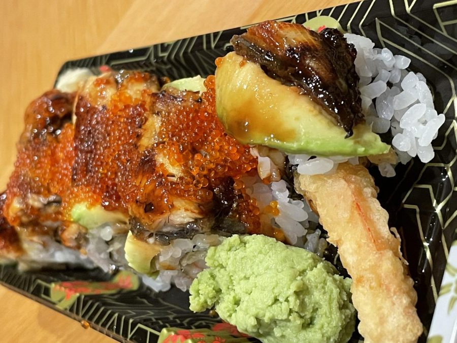 The Dragon Roll featured sweet, yet savory unagi sauce.