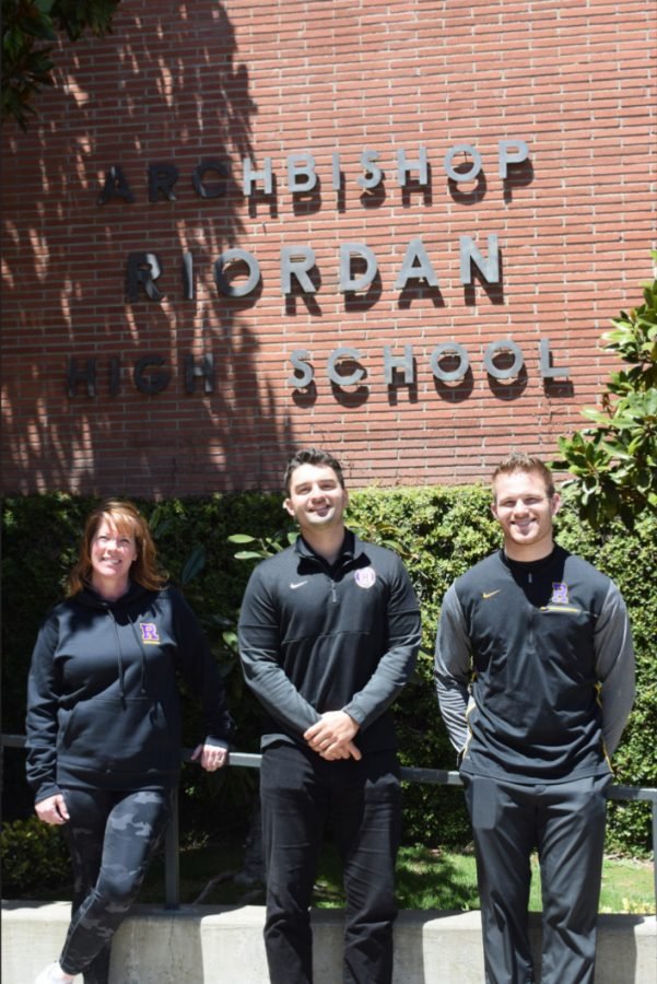 The Riordan Admissions Team, Sally O'Connell, Danny Curtin '08, and Joe Kopp, processed a record number of applicants for fall 2021.