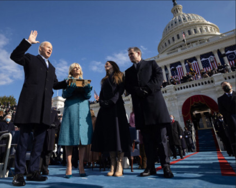 Joe Biden takes the oath of office to become the 46th President of the United States of America.
