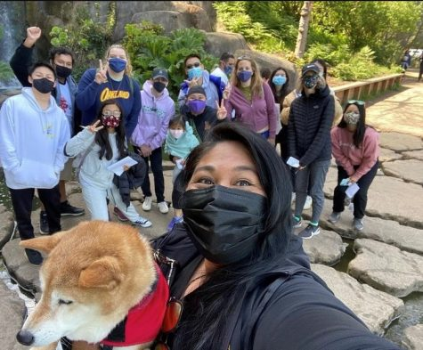 The moderators and members of the Riordan Wellness Club took a stroll through Golden Gate Park for an Awe Walk last month.