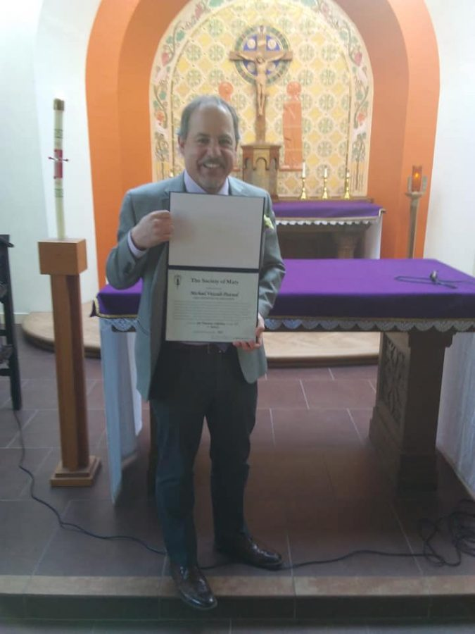 Michael Vezzali-Pascual was inducted as a lay Marianist in January.
