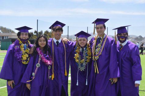 Riordans Class of 2021 graduates on Mayer Family Field