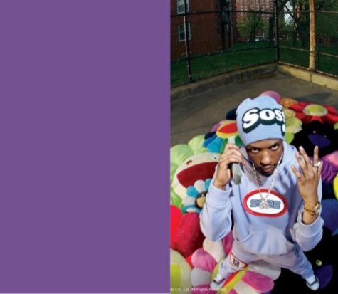 The Life of Pi'erre 4's cover art features a simple solid shade of purple, while The Life of Pi'erre 5's cover art features Pi'erre standing on top of a pile of expensive Takashi Murakami pillows with a stack of cash to his ear with one hand while showing off his jewelry on the other.