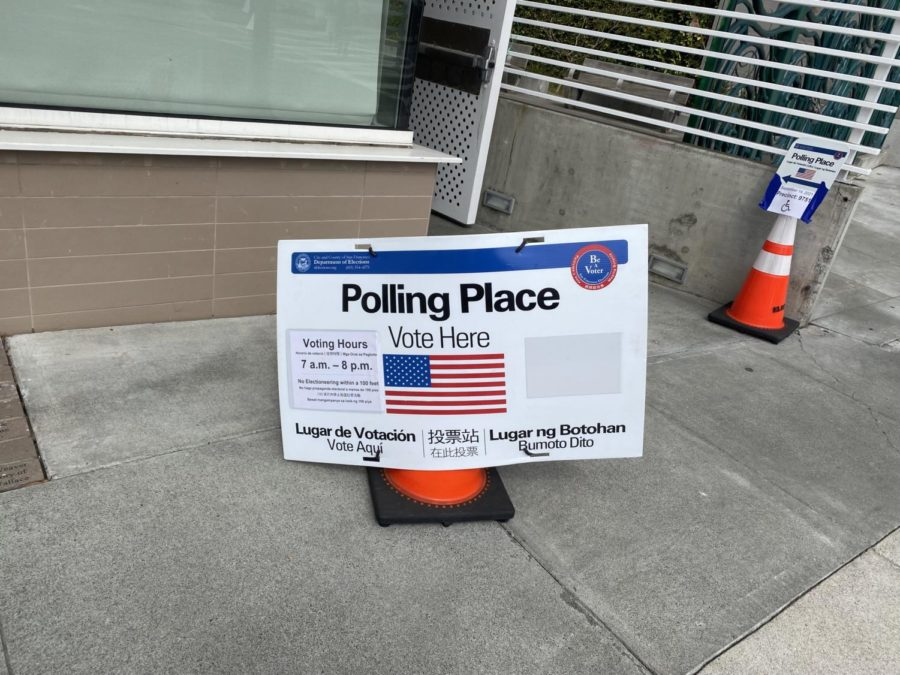 The Ingleside Library on Ocean Avenue, a few blocks from Riordan, was open for voters to cast their ballots in person or drop off completed ones.